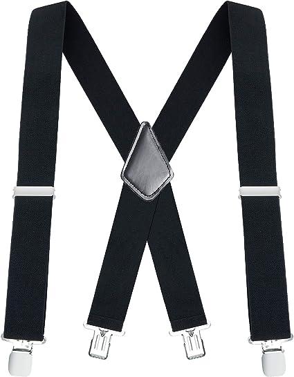Buyless Fashion Tirantes el/ásticos y ajustables en forma de Y con clips de metal