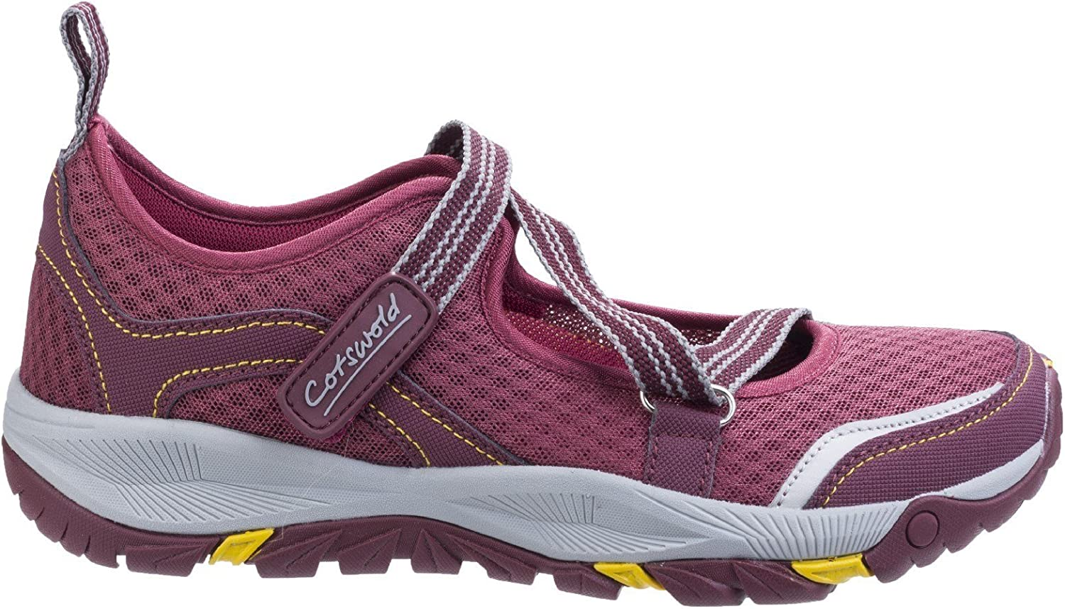 Cotswold Womens/Ladies Norton Lightweight Breathable Hikers Shoes Rojo Burdeos