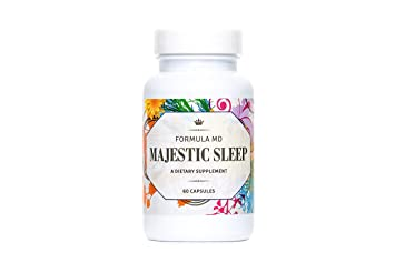 Majestic Sleep - Physician Formulated Natural Sleep Aid With Melatonin, Glycene, L-Theanine