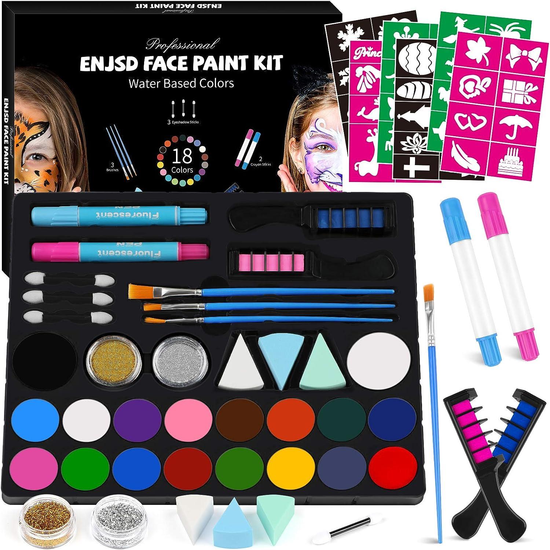 ENJSD Face Paint Kit, 82 PCS Face Paint set for Kids WAS £11.99 NOW £7.19 w/code JBRSRH99 @ Amazon