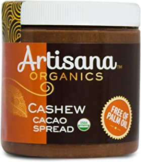 product image for Artisana Organics Cashew Cacao Spread, 9.5oz | Sweetened with Coconut Sugar