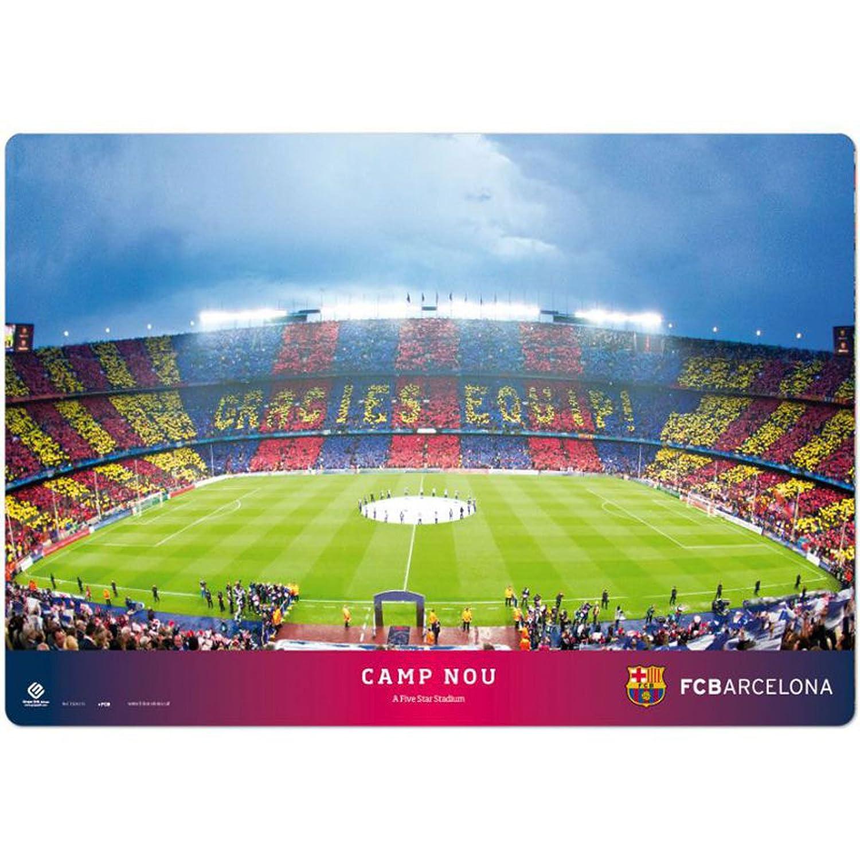 empireposter FC Barcelona abwischbar Schreibtischunterlage ca Tischunterlage Stadion 35x50 cm Lizenz-Unterlage Schreibunterlage