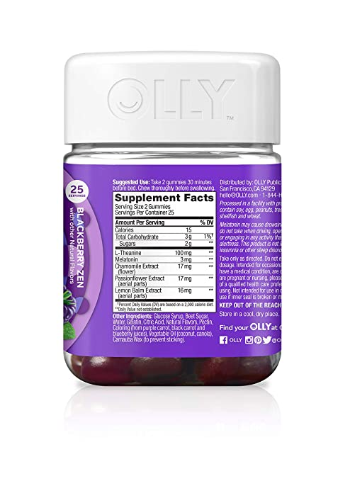 OLLY Restful Sleep Blackberry Zen - 50 Count by Olly: Amazon.es: Salud y cuidado personal