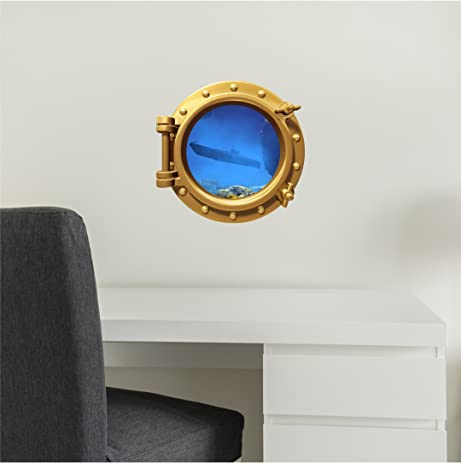 Amazoncom PortScape WALL DECAL Submarine Bronze Porthole - Portal 2 wall decals