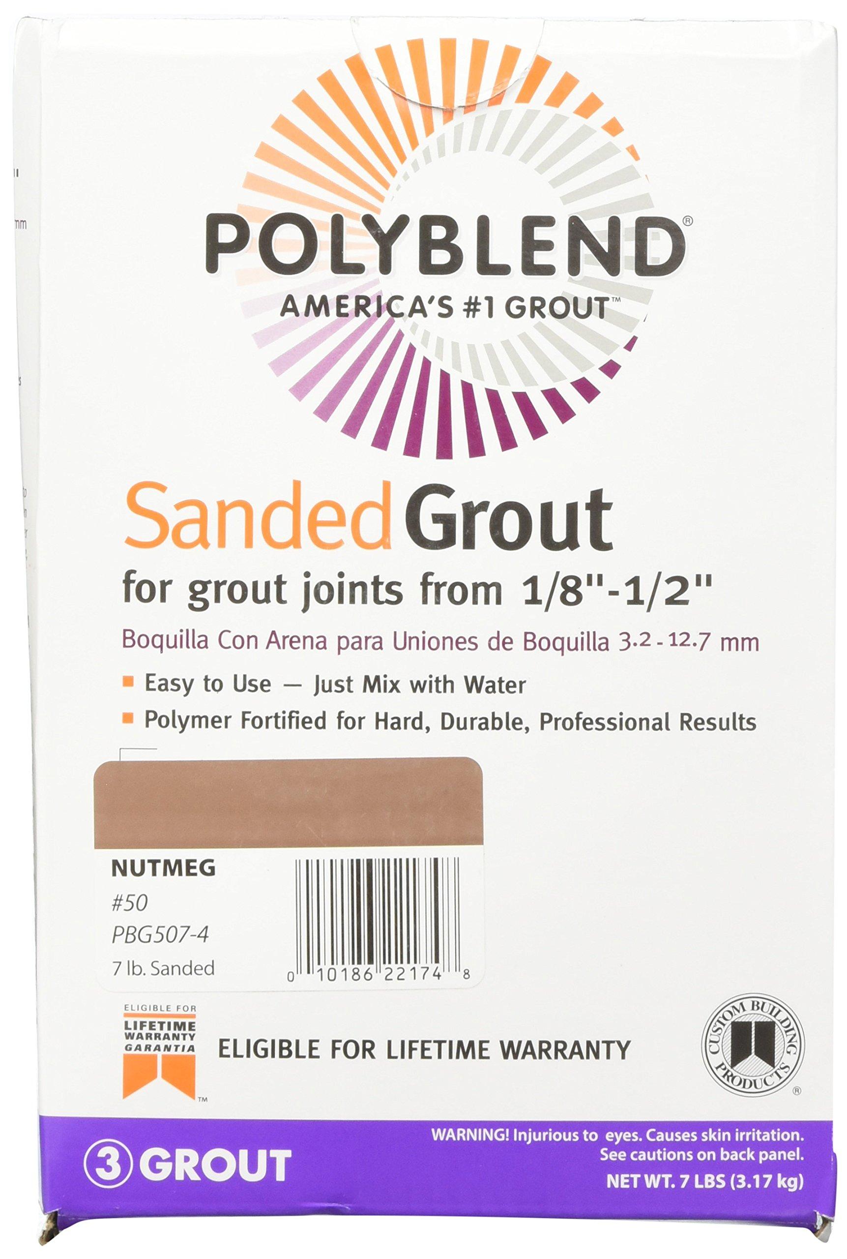 CUSTOM BLDG PRODUCTS PBG507-4 7-Pound Nutmeg Sand Grout