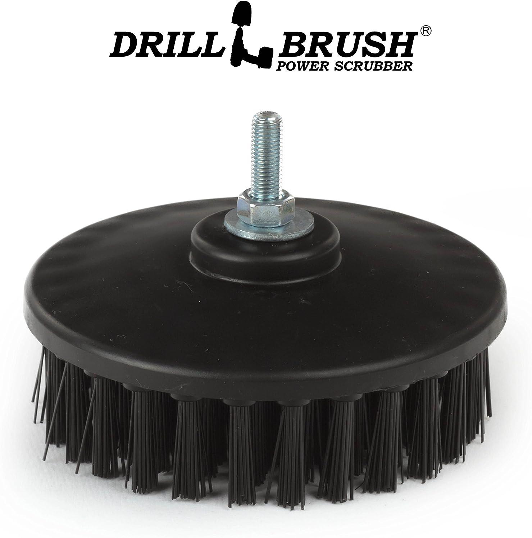 Drillbrush Ultra r/ígido de nylon roscado 5 16X24 Grado Industrial friega el cepillo adapta el/éctrico y de aire neum/ático de doble acci/ón rotatoria pulidores y Da M/áquinas