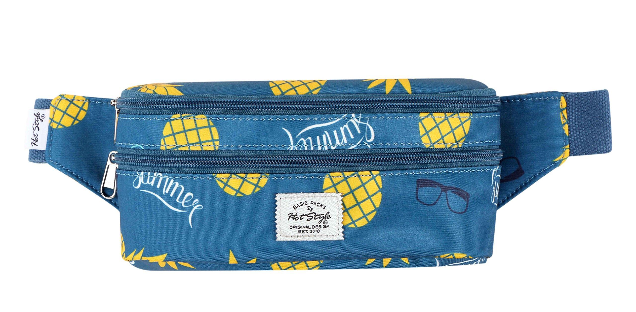 521s Fashion Waist Bag Cute Fanny Pack | 8.0''x2.5''x4.3'' | Summer Pineapple