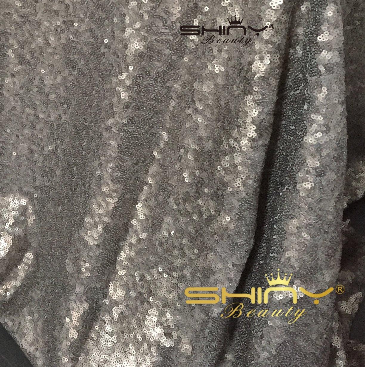 ShinyBeauty Grey-Aisles Runner-75feetx3feet Wedding Carpet Aisle Runner,Sequin Aisles Floor Runner by ShinyBeauty