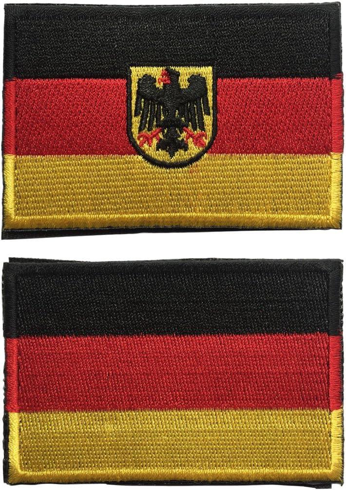 spaceauto bandera de Alemania militar táctica moral – Placa parche Hook & Loop 3