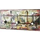 Hansmeier Perchero de Pared de Estilo Vintage Colgador Mural ...