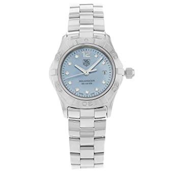 17a4cdb2257 Image Unavailable. Image not available for. Color  Tag Heuer Aquaracer  Quartz Female Watch WAF1419.BA0824 (Certified Pre-Owned)