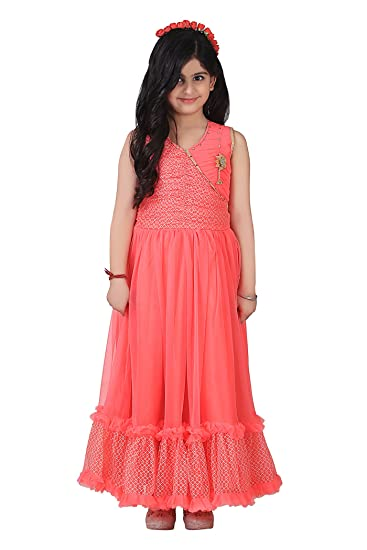 8a66a5bb2 Qeboo Beautiful Designer Red Color Party Wear Knee Length Dress for Baby  Girls/Girls(Age 3-9 Years): Amazon.in: Clothing & Accessories