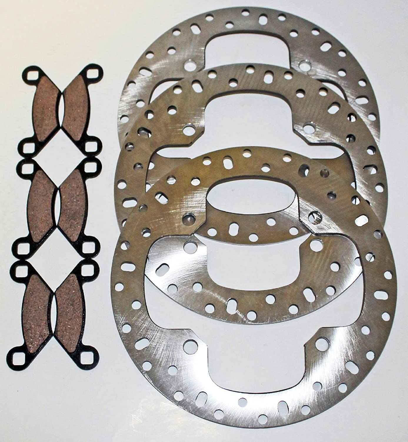 Front and Rear Brake Rotors and Pads fits 2009-2011 Polaris 550 Sportsman XP EPS CycleATV