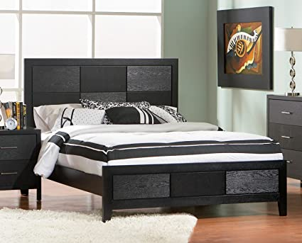 Amazon.com: 5-Pc Bedroom Set in Sleek Black Asian (Eastern King ...