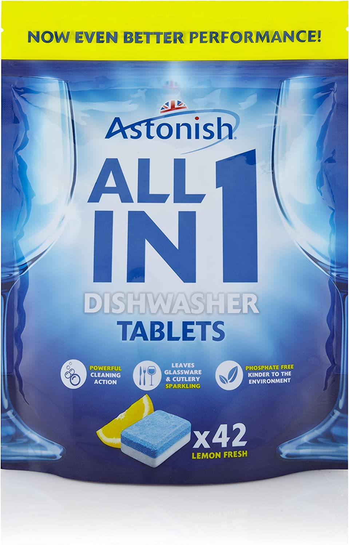 Pestañas de 168 x limpiador de 5 en 1 Lavavajillas Tabletas con ...