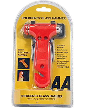 AA Emergency Car Vehicle Window Hammer Breaker /& Seat Belt Harness Cutter
