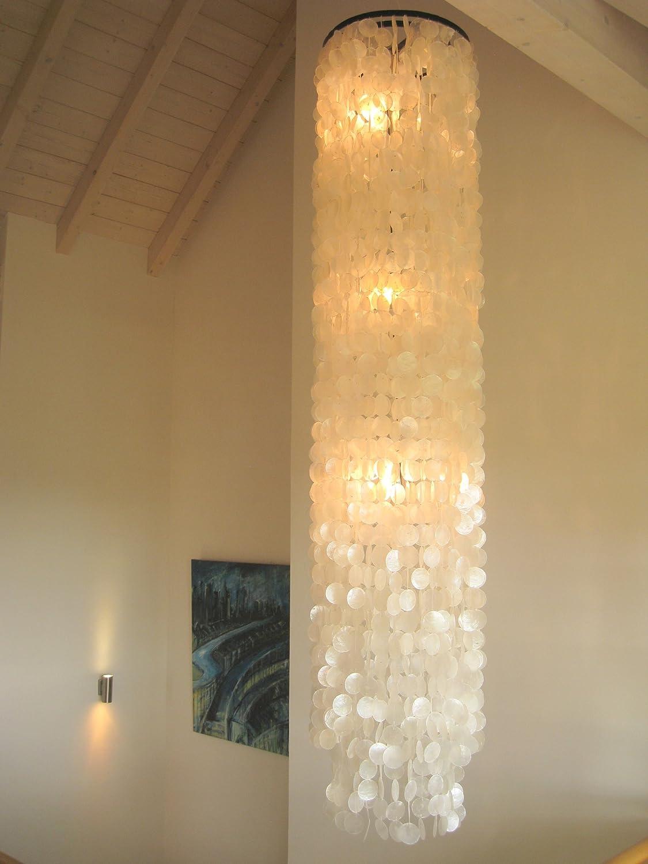 Muschellampe 200 cm hoch, Samoa XXL Oceanlights Muschellampe
