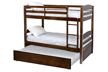 Amazon Com Million Dollar Baby Kids Bailey Bunk Bed Trundle