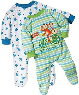 Erwin M/üller Baby-Schlafanzug 2er-Pack mit Druckmotiv dunkelrosa Gr/ö/ße 50 56