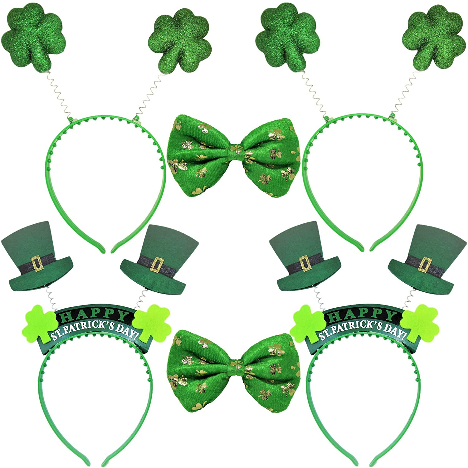 St Patrick/'s Day Green Shamrock  Dress Women Girls Headband Sash Party Prop