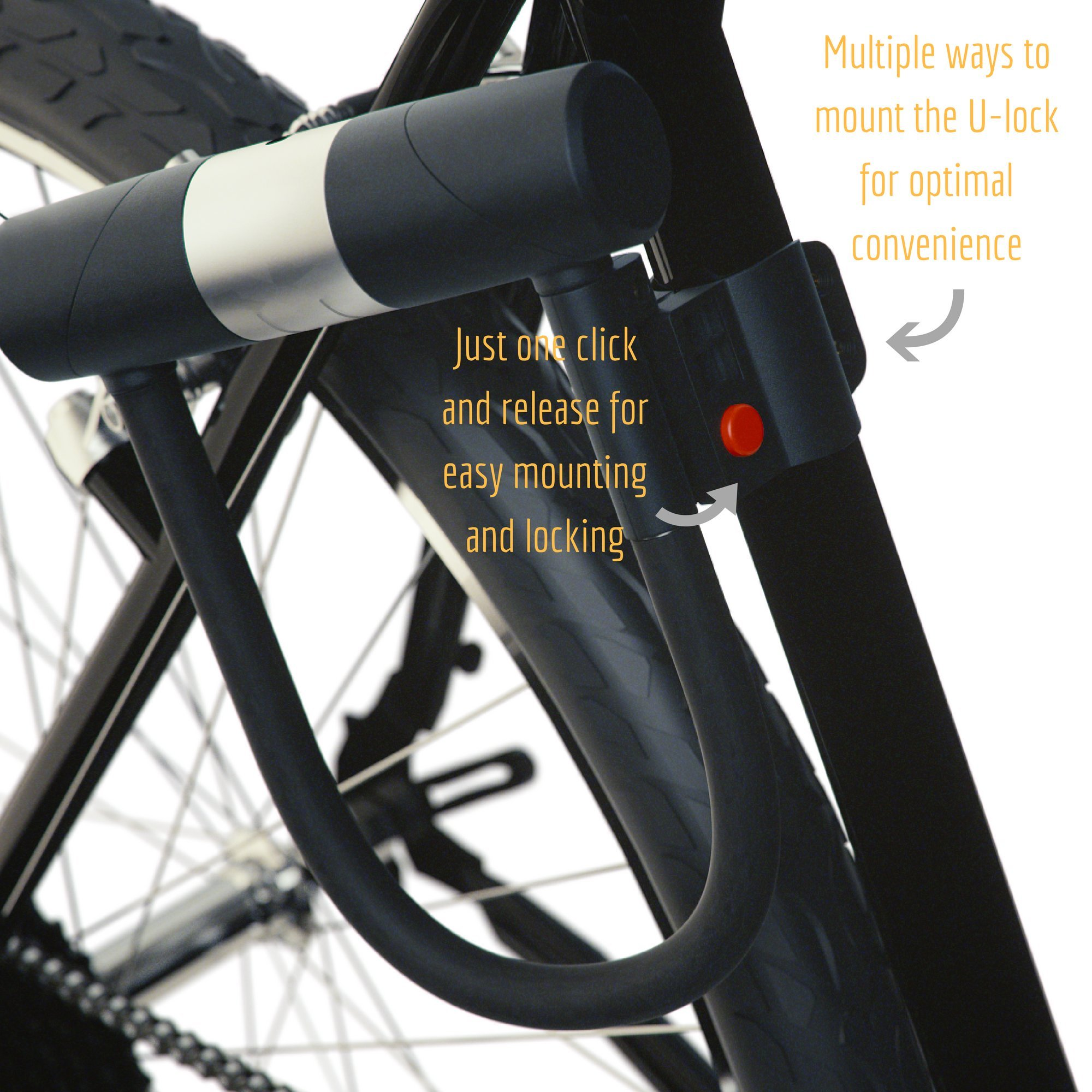 bike lock holder cable lock and U lock frame holder Cycling parts Accessorie/_WK
