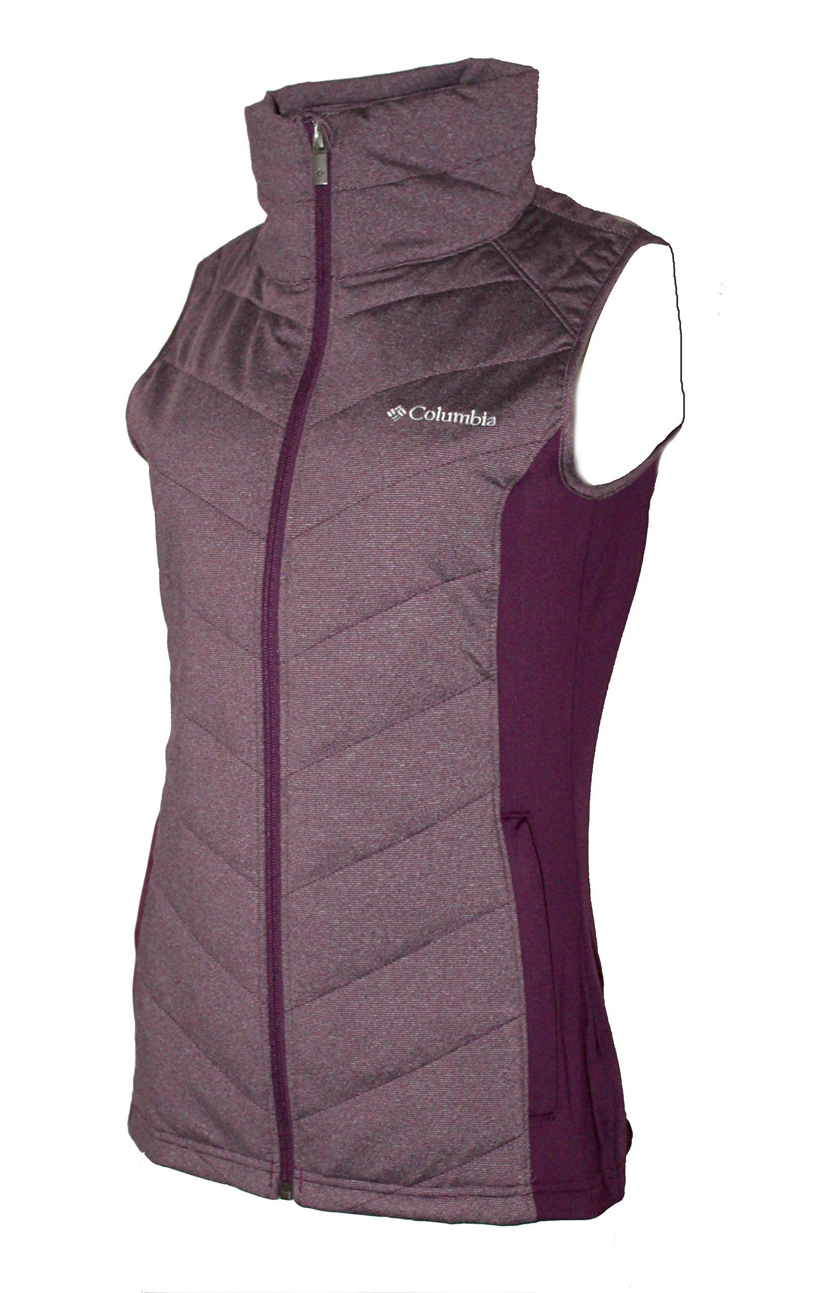 Columbia Women's Dandi Camp II Insulated Full Zip Vest (S, Purple Dahlia/Dusty Purple)