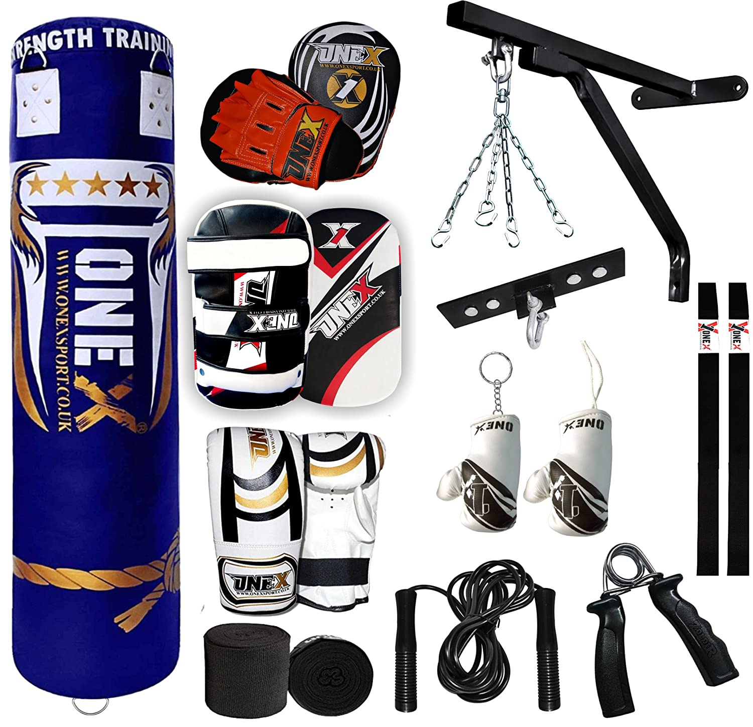 RDX Punch Bag Floor Ropes Cords Boxing Hook Ball Bracket Wall Ceiling MMA CA