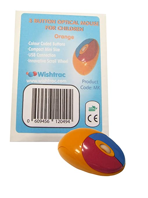 Small Orange Infant Mini Optical Mouse - Colour Coded for Children ...