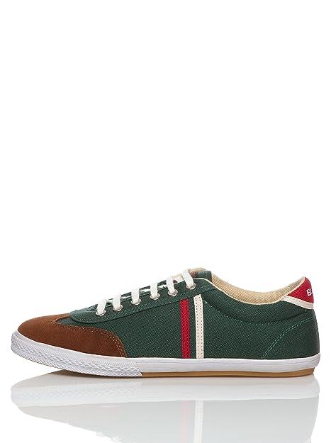 El Ganso Zapatillas Tennis Gold Canvas Verde Oscuro/Rojo / Blanco EU 40: Amazon.es: Zapatos y complementos