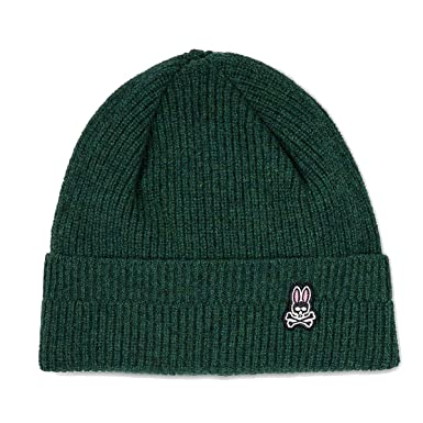 4424e8d5dac Image Unavailable. Image not available for. Color  Psycho Bunny Watchman  Lambswool Knitted Cap ...