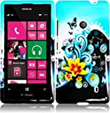 For Nokia Lumia 521 Hard Design Cover Case Yellow Lily Accessory