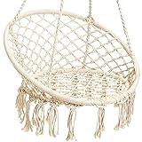 GREARDEN Hammock Chair Handwoven Cotton Rope