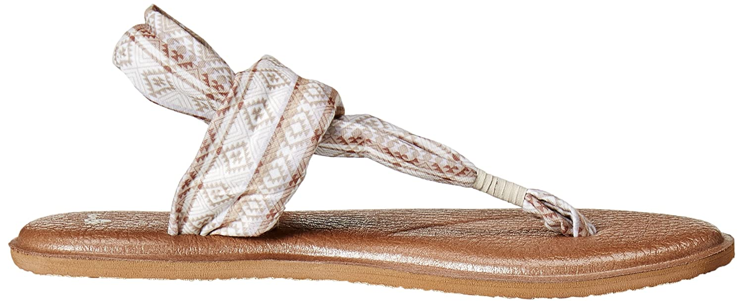 Sanuk Damen Natural Yoga Sling#2 Prints Zehentrenner, Natural Damen Multi Tribal Stripe 27d005