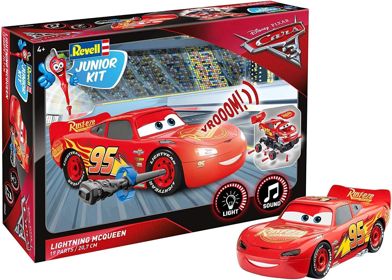 Revell- Lightning Mcqueen (Light&Sound) Cars 3 Juego de Construction de Coche, 4+ Años, Multicolor, 1:20 Escala (00860): Amazon.es: Juguetes y juegos