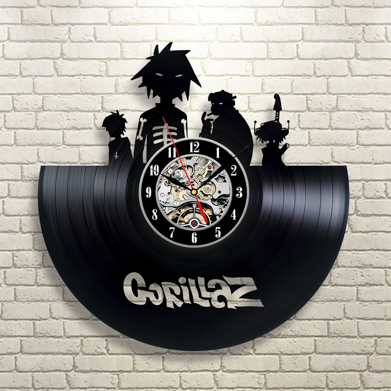 Gorillaz Vinyl Wall Clock Art Gift Room Modern Home Record Vintage Decoration Win a prize for feedback Win a prize for feedback B0183U1NVS