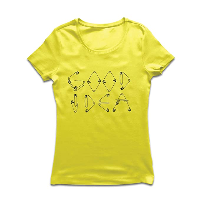 lepni.me Camiseta Mujer Una Idea Buena - Diseño Divertido para Frikis y empollón,
