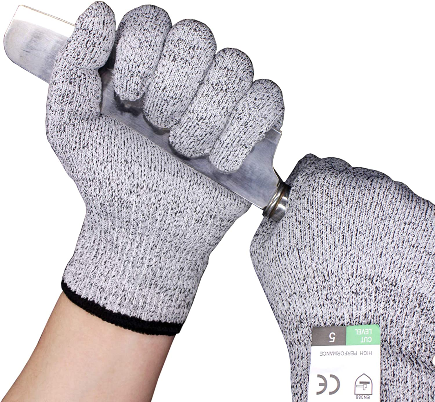 Cut Resistant Gloves, Food Grade and High Performance Level 5 Protection , Wood Carving and garden work.