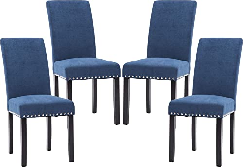 LSSPAID Dining Chair Set of 4 Fabric Padded Side Chair
