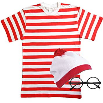 360fdc95ae Childrens Red & White striped fancy dress 3 PIECE SET (7-8 years ...