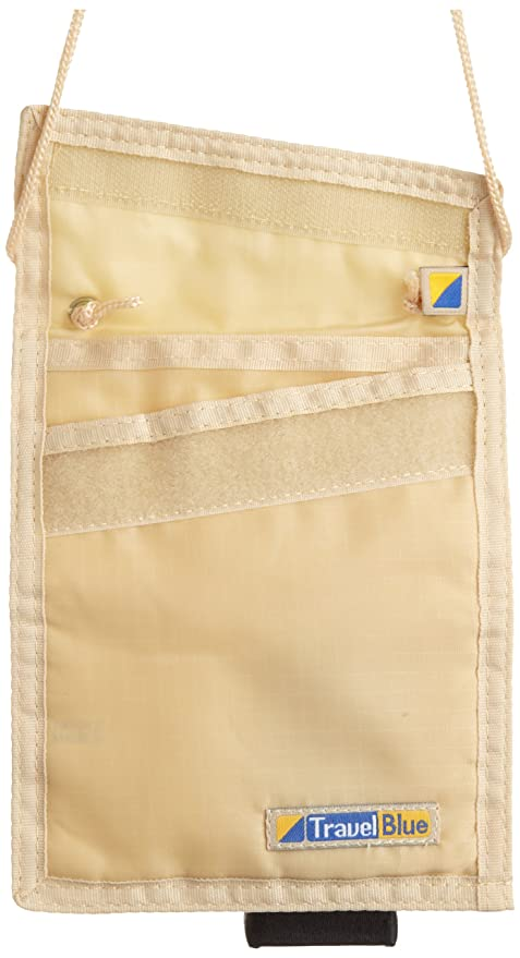 Amazon.com | Travel Blue Security Neck Wallet, Beige, One ...