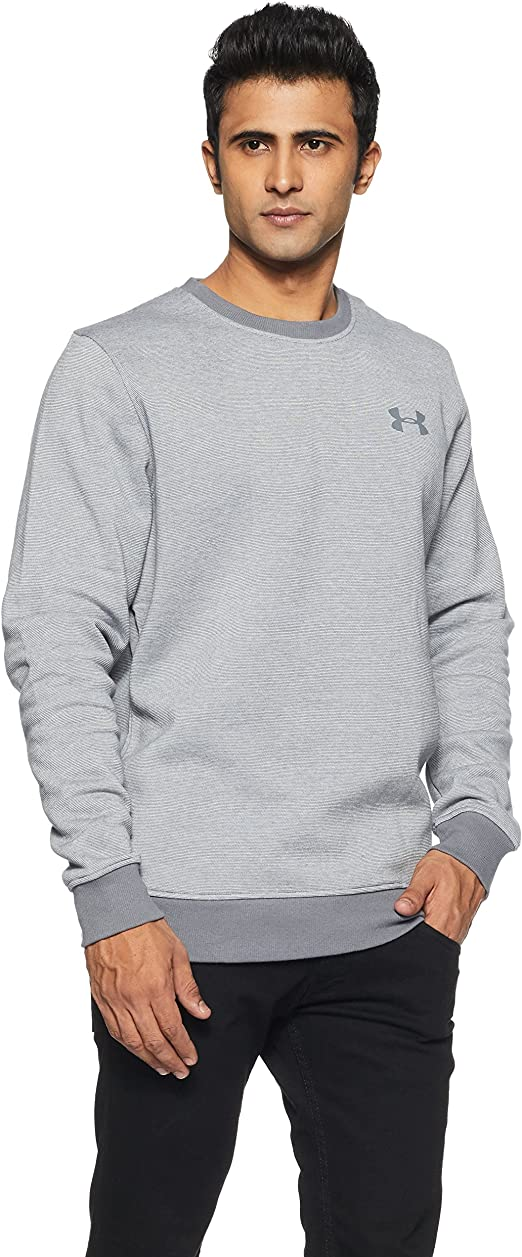 TALLA L. Under Armour Rival Fitted Eoe Crew Sudadera, Hombre