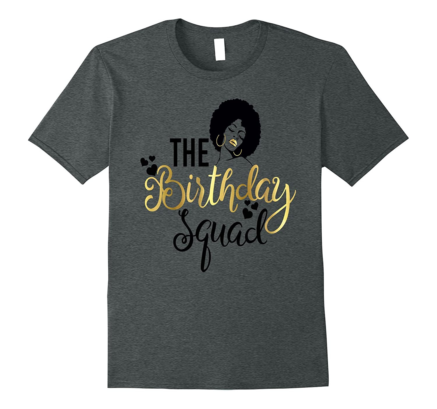 Black girl magic birthday squad shirt gold party gift art for Bucket squad gold shirt
