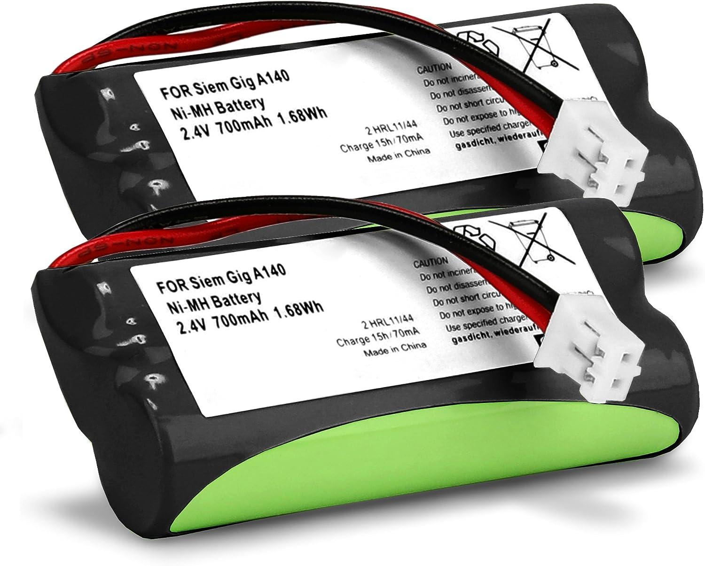 subtel 2X Batería Premium Compatible con Siemens Gigaset A120 A14 A140 A145 A160 A165 A245 A240 A260 A265 (700mAh) V30145-K1310-X383,V30145-K1310-X359 bateria de Repuesto,Pila reemplazo,sustitución