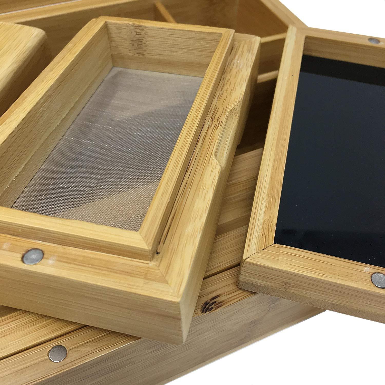 Black Leaf\' \'Skull\' Stoner Box II aus Bambus: Amazon.de: Küche ...