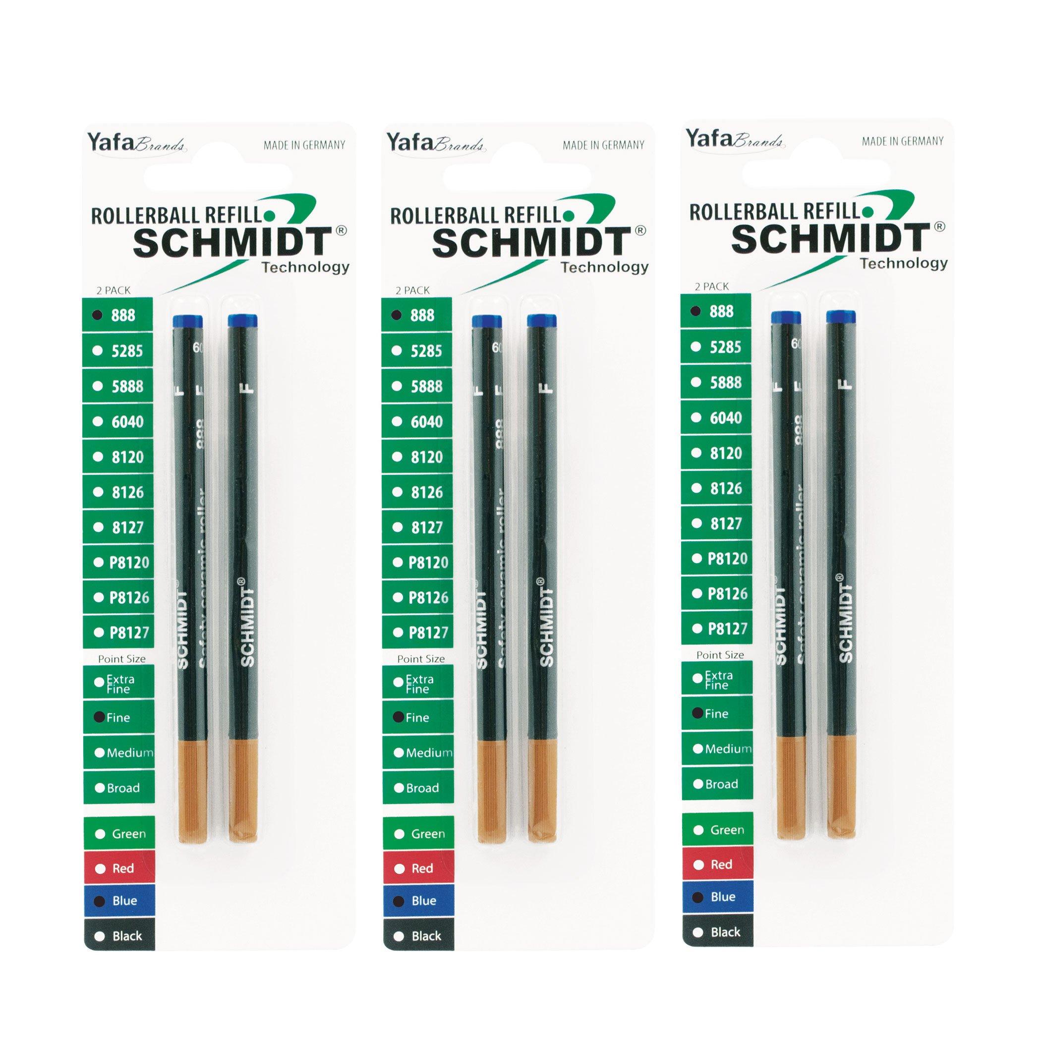 Recarga Tinta Schmidt 0.6mm Azul (SC58169) [6un.]