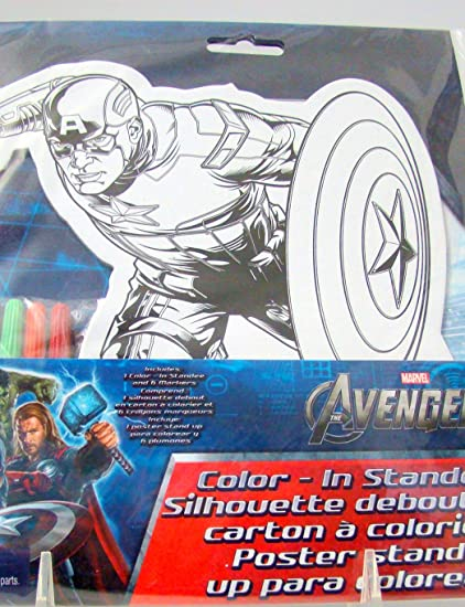 Marvel Avengers Captain America Color In Standee