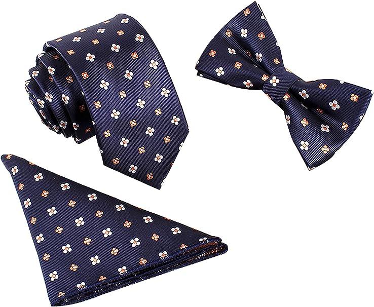 WANYING Classic 6 * 12 cm y 6 cm de la pajarita corbata estrecha ...