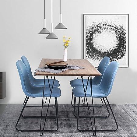 Soggiorno Moderno Con Tavolo Da Pranzo.Jeffordoutlet Set Di 4 Sedie Con Tavolo Da Pranzo E Sedie