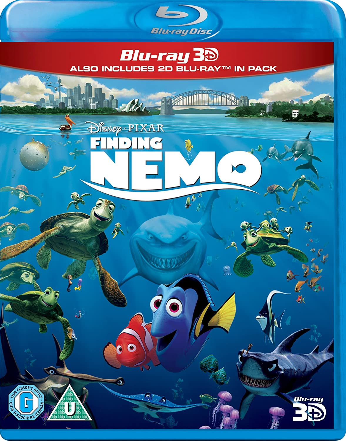 Finding Nemo [Blu-ray 3D + Blu-ray] [Region Free] [Import] MSE1175134