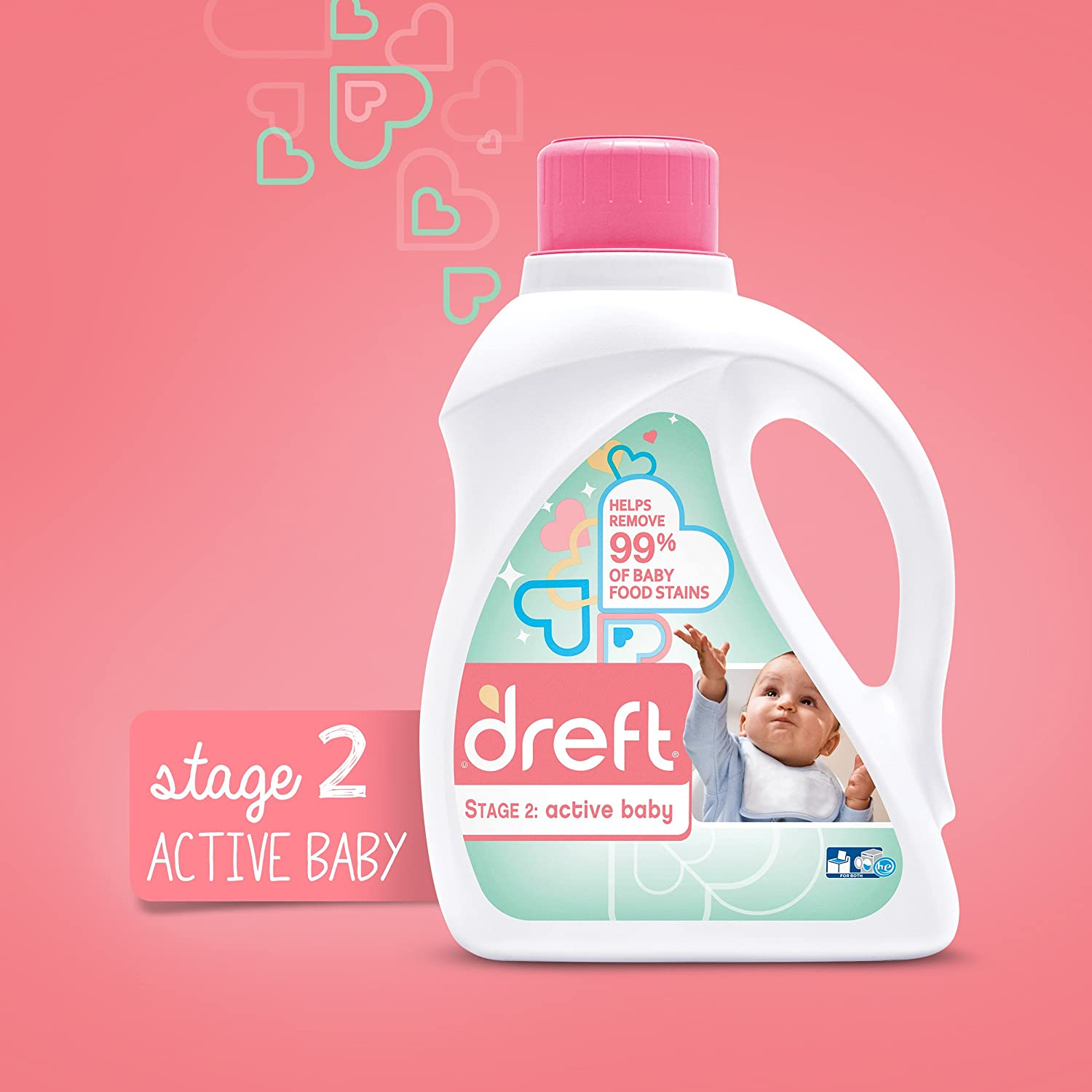 Amazon Com Dreft Stage 2 Active Hypoallergenic Liquid Baby Laundry